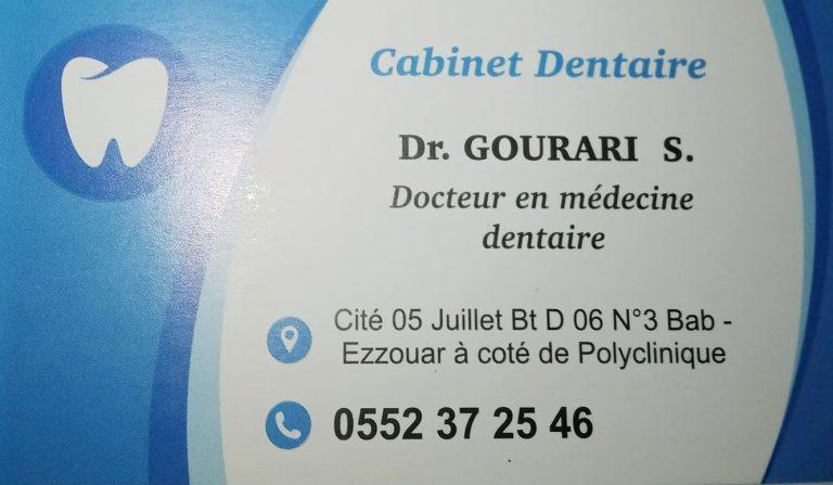 CABINET DENTAIRE DOCTEUR GOURARI S.